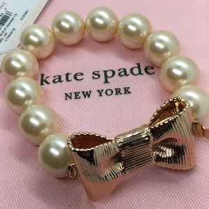 New! kate spade, all wrapped up in pearls bracelet